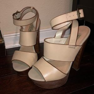 Steve Madden  cream leather platforms